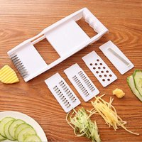 ingrosso stampi di verdure di plastica-New Mandoline Slicer Taglierine per verdure con 4 lame di patate Grattugia per carote di verdure Affettatrice Accessori da cucina
