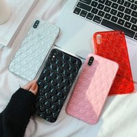 Wholesale cute 3d note case online - Fashion Cute D love Heart girly Phone Case For iPhone X XS XR XS Max S Plus transparent Colorful Soft TPU Back Cover