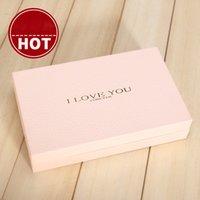 ingrosso grandi scatole da regalo rosa-Grande Gift Box con coperchio scatola rosa di carta per Cosmetici Rossetto Profumo Cartone caso di esposizione della scatola