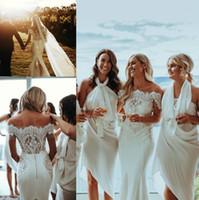 Wholesale wedding dresses for sale - Vintage Mermaid Country Wedding Dresses Bateau Short Sleeves Lace Appliqus Plus size Bridal Gowns Long robes de mariée
