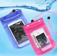 iphone cep telefonu kamera çantaları toptan satış-Ücretsiz DHL Fedex 100 adet Aktivite Seyahat Yüzme Su Geçirmez Çanta Kılıfı Kapak için 5.5 inç Cep Telefonu için Kamera iPhone Samsung