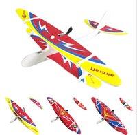 uçan kayıklar oyuncakları toptan satış-Köpük Fırlatma Uçan Planör Açık Oyun İlginç Oyuncak Düzlem Çocuklar Elektrikli Uçaklar Oyuncak Uçak Model El Plane atın