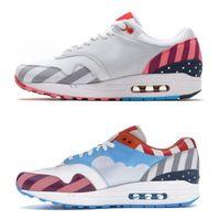 erkekler ayakkabı ebatları toptan satış-Yeni Stil Hollanda Tasarımcı Piet Parra 1 Beyaz Çok Koşu Ayakkabıları Gökkuşağı Parkı Erkekler Eğitmenler Ayakkabı Womens Sneakers Boyutu 36-44