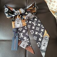 цепной ремень безопасности оптовых-100% шелковые шарфы для женщин-любителей 2019 hotest style 8cm * 120cm сумка повязки на ремне цепи стили стили шарфы женские галстуки