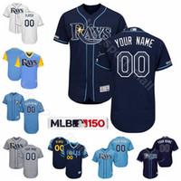 körfezi tabanı toptan satış-Tampa Bay Beyzbol Rays 29 Tommy Pham Forması Serin Üs 1 Willy Adames 17 Austin