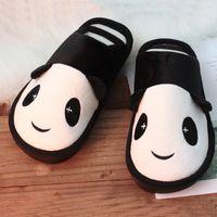 ingrosso scarpe da faccia animale-Inverno caldo Scarpe Panda coperta Pantofole a faccia piatta pelosa Cartoon donne pantofole morbide Unisex Coppia animale caldo antiscivolo scarpe