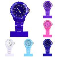 relógios de moda de plástico venda por atacado-Nova Moda de Alta Qualidade Cores À Prova D 'Água Enfermeiras De Plástico Assistir Broche de Senhoras Enfermeira Moda Jóias Assista