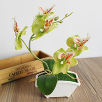 Wholesale diy handmade home decor resale online - Household Gift Garden Moth Orchid Plastic Simulation Flower Artificial Flower Fake Plant Fashion Handmade Home Decor DIY
