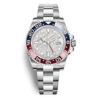 16 saat toptan satış-16 renk Erkek saatler 40mm GMT 126710 Otomatik İzle Batman Master 2 Seramik çerçeve Safir saatler jubilee kayış erkekler İzle 2813 hareketi