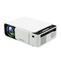 xbox hd mini al por mayor-Proyector Mini LED Proyectores LCD T5 Proyector 3D Full HD 1080P Reproductor multimedia Home Theater Soporta HDMI VGA USB Xbox Game TV Beamer