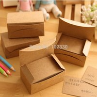 Wholesale note paper set resale online - 50 Sets Creative Kraft Paper Memo Pad Sticker Message Card Post Sticky Notes Notepad Word Cards Boxes