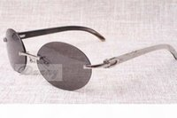 Wholesale 58 mm sunglasses resale online - High end round fashion retro sunglasses natural mixing angle the best quality sunglasses men and women glasses size mm