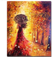 wandkunst gemaltes holz großhandel-Gerahmte Wandbilder DIY Ölgemälde Durch Zahlen Wandkunst Acryl Öl Leinwand Gemälde Wohnkultur Für Wohnzimmer