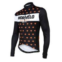 tur france jersey top toptan satış-Yeni Erkekler MORVELO uzun kollu bisiklet forması Tour de France mtb bisiklet üstleri Bahar sonbahar yarış bisiklet gömlek açık spor giyim 120304Y