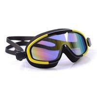 ingrosso occhiali ultravioletti-Uomini e donne placcati anti-fog e anti-ultravioletti occhialini da nuoto nuoto impermeabile occhiali di protezione del gel di silice abbagliante surf occhiali