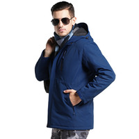 chaqueta termal impermeable al por mayor-Aufdiazy Calentamiento USB invierno mujeres de los hombres al aire libre densamente impermeable térmica chaqueta rompevientos Escudo de excursión que acampa Trekking