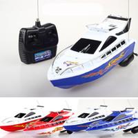 ingrosso imbarcazioni cool rc-RC Nave giocattolo di telecomando Acqua Motoscafo giocattolo elettrico del modello dei bambini del regalo di RC Barche di controllo giocattoli C2041
