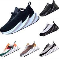 ayakkabı yap toptan satış-2019 Köpekbalıkları Primeknit ve Deri Nefes Koşu Ayakkabıları Köpekbalıkları EVA Dahili Tampon Köpük Yastıklama Atletik Ayakkabı