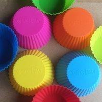molde de tulipa venda por atacado-Silicone Muffin Bolo Cupcake Cup Cake Mold Silicone Cupcake Forros Molde Bakeware Criador Molde Bandeja De Cozimento Jumbo Frete Grátis CAM1