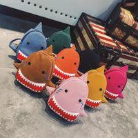 Wholesale children bedding sets online - Baby Shark Back Pack Big Mouth Fish Children Bag Both Shoulders Zipper Knapsack Three Horn Animal Hot Sale xfb1
