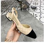 Wholesale toes covers flat sandals for sale - Lady casual Shoes fashion kitten heel pointed toe sandals Design Brand Lady bowtie cover heel sandal with box