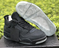 ingrosso scarpe da basket personalizzati-Best Quality Purchase Cheap Kaws 4 Black Mens Designer Basketball Shoes New Custom IV Collaboration Fashion Sports Sneakers Come With Box