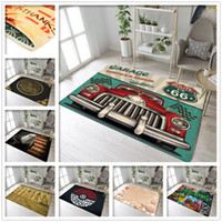 Retro Route 66 Rugs And Memory Foam Carpets For Kids Baby Home Living Room  Large Bedroom kitchen Door Floor Bath Mats