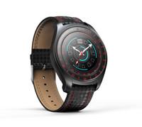 ingrosso telefoni cinesi ios-V10 intelligente Orologio da uomo con la macchina fotografica Bluetooth Smartwatch contapassi cardiofrequenzimetro Sim Card da polso per il telefono Android