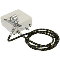 ingrosso kit di compressore airbrush-Mini Air Compressor Set Pennarello Airbrush Spatter Air Brush Kit pompa ad aria Trucco Pittura Tattoo Craft Attrezzi pneumatici