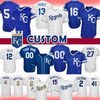 2251ed427 Wholesale george brett jersey for sale - 16 Bo Jackson Kansas City Custom  Royals Baseball Jersey