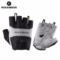 Wholesale half finger gloves for men resale online - ROCKBROS Men Women Cycling Gloves Half Finger Bike Gloves Breathable Mountain Bicycle For Men s Sports Bicycling Riding