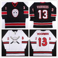 Wholesale Custom Friday the th Jason Voorhees Hockey Jerseys Black White Embroidery Stitched Customized Size S XL Vintage Jersey Ari Lehman