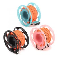 Wholesale wired marker resale online - 30m Plastic Wire Reel Dual Heads Hook Diving Marker Buoy Rope Wheel Guide Thread Spool Swimming Pool Accessories