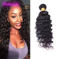 reine schönheit webt großhandel-Malaysisches Menschenhaar 1 Bundle Deep Wave Curly 9A Reine Haarverlängerungen Ein Bundle Hair Weaves 8-28 Zoll Yiruhair für Ihre Schönheit