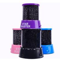 дети ночные огни звезды оптовых-Прожектор Lightme Звездное Звездное Небо LED Night Light Проектор Луна Лампа Батарея USB Дети Подарки Детская Спальня Лампа