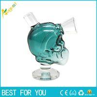 Wholesale hot water small glass resale online - Net hot Mini Skull glass Blunt Bubbler Smoking Bubble Small Water Pipes Small Pipes Hand Pipe bowl