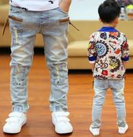 jeans de calidad para niños al por mayor-Alta calidad 2019 primavera y otoño niños pantalones niños bebé estiramiento Joker Jeans niños Jeans