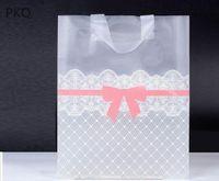 Wholesale large wedding favor bags resale online - 25pcs Plastic Wedding Party Favor Bag Large Storage Carry Bag Lovely Bow Gift Shopping Bags