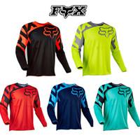 ingrosso camicie da corsa in bici-miglior prezzo Abbigliamento bici Cycling Series Jersey Orange manica lunga Top Downhill Racing Moto Mountain Bike Off-roadT-shirt