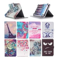 Wholesale huawei t1 for sale - Group buy Cartoon Printed Universal inch Tablet Case for Huawei MediaPad T3 T1 Cases kickstand PU Leather Flip Cover Case