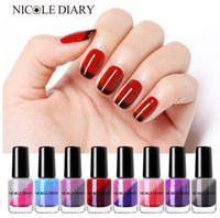 Wholesale nail polish for sale - Hot Sell Thermal Nail Polish Glitter Temperature Color Changing Water based Varnish Shinny Shimmer Peel Off Nail Lacquer