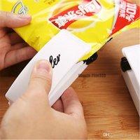 selador de saco de lanche venda por atacado-Aferidor simples Mini Aferidor Para O Saco de Snack Power By Battery Sealer Máquina De Poupança De Alimentos Máquina De Vácuo Fácil Utilização