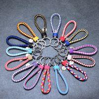 corrente chave de couro artesanal venda por atacado-Mão pura tecido chaveiros chaveiros de corda de couro chaveiros celebrações artesanais presentes de moda brindes promocionais T2C5034