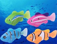 Wholesale balls pits online - Juxu Robo Fish Water Activated Battery Powered Robofish kids Clownfish Bath Toys children Robotic Fish Electronic pet drop shipping