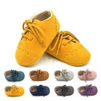 bebekler için düşmüş ayakkabılar toptan satış-Yeni Güzel Rahat Moda Toddler Bebek Kız Erkek Ayakkabı Yumuşak Sole Beşik Ayakkabı Katı Çapraz bağlı Dantel-Up Kıyafet Bahar Güz