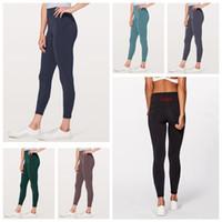 pantalones de niñas de color al por mayor-Mujeres Flaco Leggings 6 Colores Deportes Gimnasio Yoga Pantalones de Cintura Alta Entrenamiento Tight Yoga Leggings Chicas Pantalones OOA6330