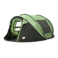 Wholesale large family outdoor tents resale online - 5 Person Throw Automatic Speed Open Throwing Pop Up Waterproof For Outdoor Camping Tent Large Family Marquee Beach Tent ZZA1083