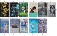 Wholesale ipad cats case cover online – custom For Ipad Pro Air D Flip Leather Case Stand ID Card Cartoon Flower Butterfly OWL Cat Tiger Panda Skin Cover