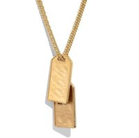 Have stamps Fashion necklace womens mens Party Lovers gift hip hop jewelry with box