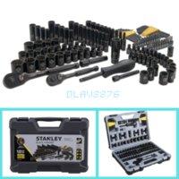 estuche rígido de cromo al por mayor-Stanley 123 Mecánica de piezas de este conjunto de herramientas de cromo estándar SAE Métricas del estuche rígido de garaje